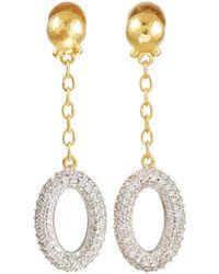 Gurhan - Long Galahad Diamond Oval Drop Earrings - Lyst