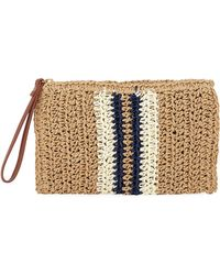 be88efd1d2aab Lyst - COACH Foldover Crossbody Clutch In Striped Mixed Snake