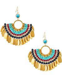 Nakamol - Beaded Half-circle Earrings - Lyst