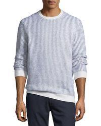 Ermenegildo Zegna - Cashmere-blend Textured-knit Sweater - Lyst