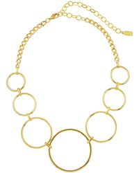 A.V. Max - Geometric Circle-link Necklace - Lyst