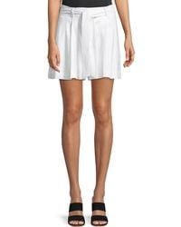 Laundry by Shelli Segal - Pleated Linen Belted Shorts - Lyst