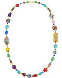 Jose & Maria Barrera - Long Bright Decoupage Cloisonne Necklace - Lyst