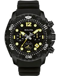 Bulova - 47mm Men's Sea King Analog Sport Watch W/ Rubber Strap - Lyst
