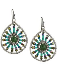 Nakamol - Beaded Sunburst Teardrop Earrings - Lyst
