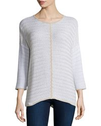 Belford - Long-sleeve Oversized Pullover W/ Trim - Lyst