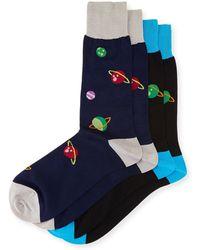 Punto - Two-pair Planet-print Socks - Lyst
