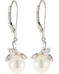 Belpearl - 14k Akoya Pearl & Diamond Branch Earrings - Lyst
