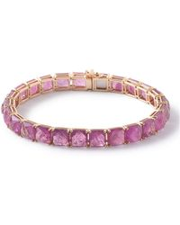 Ippolita - 18k Rock Candy Tennis Bracelet In Composite-ruby Doublet - Lyst