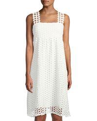 Line & Dot - Raneal Loop-lace Midi Dress - Lyst