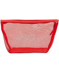 Neiman Marcus - Sparkle Is My Favorite Color Mesh Cosmetics Bag - Lyst
