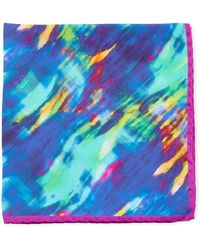 Bugatchi - Abstract-print Silk Pocket Square - Lyst