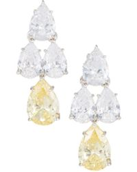 Fantasia by Deserio - Pear-cut Cz Waterfall Chandelier Earrings - Lyst