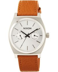 Nixon - 37mm Time Teller Deluxe Leather Watch - Lyst