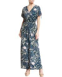Band Of Gypsies | Moody Short-sleeve Floral Jumpsuit | Lyst