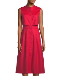 Tahari - Rooney Button-front Popover Shirtdress - Lyst