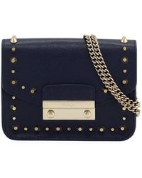 Furla - Julia Mini Studded Saffiano Leather Crossbody Bag - Lyst
