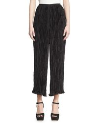 Elizabeth and James - Crescent Pleated Flare Cropped Pants Black - Lyst