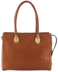 6ff83574a2b Cole Haan - Benson Braided-handle Leather Tote Bag - Lyst