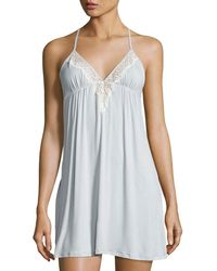 Underella By Ella Moss - Colette Polka-dot Lace-trimmed Chemise - Lyst