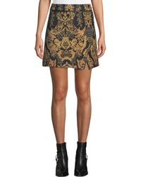 Free People - Winter Warrior Medallion Brocade Mini Skirt - Lyst