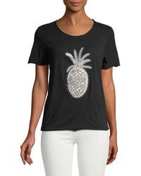 Romeo and Juliet Couture - Beaded Pineapple Tee - Lyst