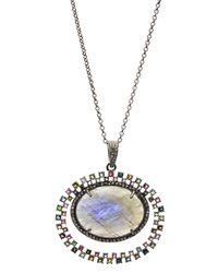 Bavna - Labradorite & Tourmaline Necklace W/ Diamonds - Lyst