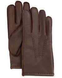 Neiman Marcus - Three-point-stitch Leather Gloves - Lyst