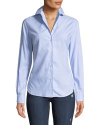 Leon Max - Satin Button-front Blouse - Lyst