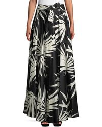 MILLY - Jackie Woven Maxi Skirt - Lyst