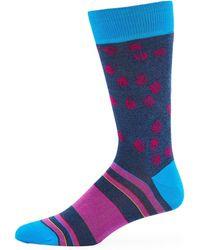 Bugatchi - Men's Striped Scratched-dot Socks - Lyst