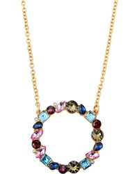 Fragments - Multicolor & Mixed-cut Stone Pendant Necklace - Lyst