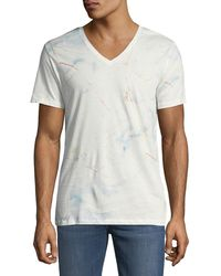 Antony Morato - Men's Brake-market Marbled V-neck T-shirt - Lyst