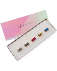 Lydell NYC - Glitter Stud Earrings Set Of 5 - Lyst