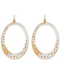 Ashley Pittman | Mzima Studded Oval Drop Earrings | Lyst