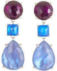 Ippolita - Wonderland 3-stone Drop Earrings In Luna - Lyst