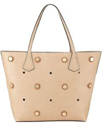 Neiman Marcus - Studded Faux Tote Bag - Lyst