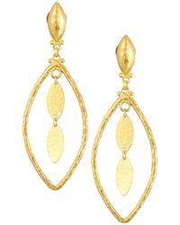 Gurhan - Willow 24k Geo Marquise Drop Earrings - Lyst