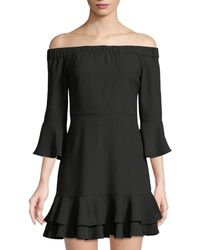 Romeo and Juliet Couture | 3/4-sleeve Off-the-shoulder Ruffle Dress | Lyst