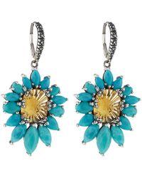 Stephen Dweck | Fan Yellow Quartz & Turquoise Drop Earrings | Lyst