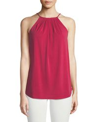 Casual Couture - Gathered Halter-neck Blouse - Lyst