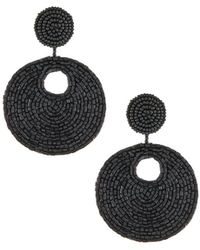 Kenneth Jay Lane | Seed-bead Disc Drop Earrings | Lyst
