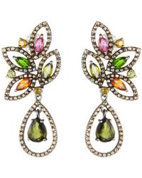 Bavna Marquise & Teardrop Tourmaline Earrings HyPblee