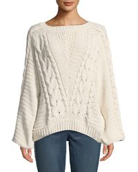Dex - Cable Knit Long-sleeve Sweater - Lyst