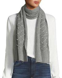 Karl Lagerfeld - Diamond-knit Pearly Scarf - Lyst