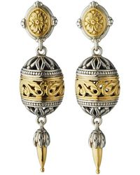 Konstantino - Sterling Silver & 18k Gold Drop Earrings - Lyst