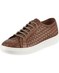 Sesto Meucci - Nudara Woven Leather Low-top Sneakers - Lyst