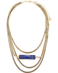 Nakamol | Snake Chain Lapis Necklace | Lyst