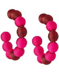 Lydell NYC - Wrapped Ball Hoop Earrings - Lyst