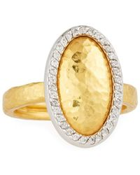 Gurhan - Jordan 24k Two-tone Oval Diamond Ring - Lyst